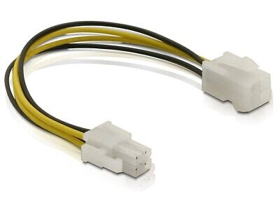 Delock Power cable P4 male / female supply power from mainboard to CPU 15 cm