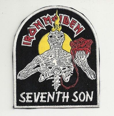 IRON MAIDEN Seventh Son synthetic rubber patch RARE