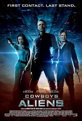 COWBOYS AND ALIENS MOVIE POSTER 2 Sided ORIGINAL Ver C 27x40 DANIEL CRAIG