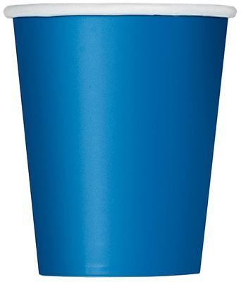 14 Party Paper Plain Royal Blue Cups 266Ml/9 Oz Tablewear Party Catering Cup