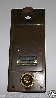 Antique Apartment Brass Mailbox With Doorbell, Buzzer & Speaker Tube - RARE