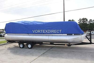 New Vortex Combo Pack Blue 20 Ft Ultra Pontoon/deck Boat Cover+Support System