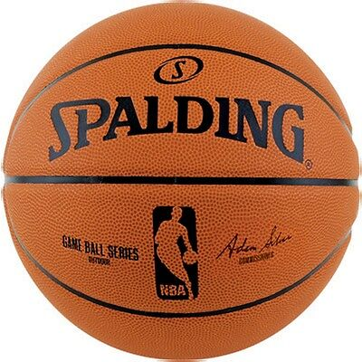 Spalding NBA Game Ball Rubber Basketball [Size 7] + Free Aus Delivery