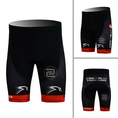 Mens Outdoor Bike Team Cycling Shorts Bicycle Tights 3D Gel Padded Lycra Black