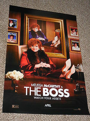 THE BOSS 27x40 ORIGINAL D/S MOVIE POSTER Melissa McCarthy