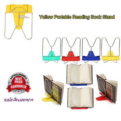 Adjustable Angle Foldable Portable Reading Book Stand Document Holder ~#