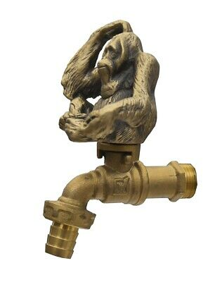 Brass Garden Tap Monkey Faucet Vintage Water Home Decor Spigot Living Outdoor