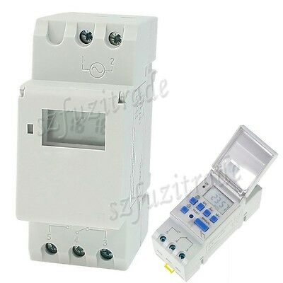 Digital LCD Programmable Timer DC 12V 16A 24 HOUR 7 DAY Time Relay Switch THC15A