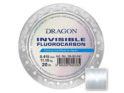 Dragon Invisible Fluorocarbon line / 20m / 0,12-0,74mm / 100% fluorocarbono