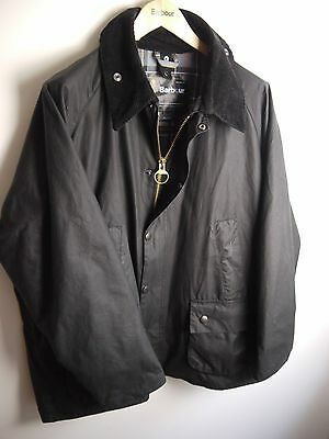 Barbour Men's Bedale Wax Jacket, Black, Size 48, New Without Tags