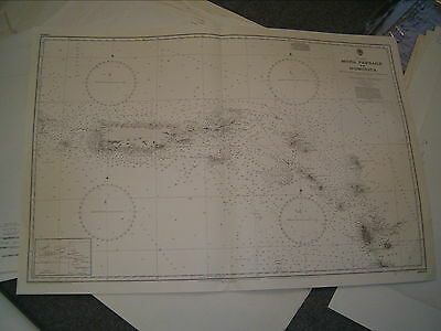 Vintage Admiralty Chart 2600 WEST INDIES - MONA PASSAGE to DOMINICA 1974 edn