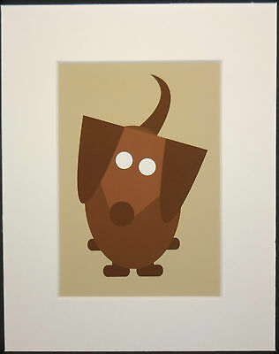 """High Quality 5""""x 7"""" Print of Brown Dachshund matted and ready for 8""""x 10"""" Frame"""