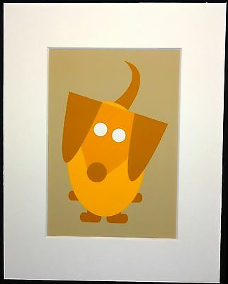 "High Quality 5""x 7"" Print of Yellow Dachshund matted and ready for 8""x 10"" Frame"