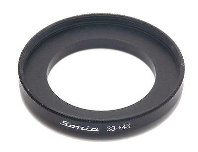 Metal Step up ring 33mm to 43mm 33-43 Sonia New Adapter