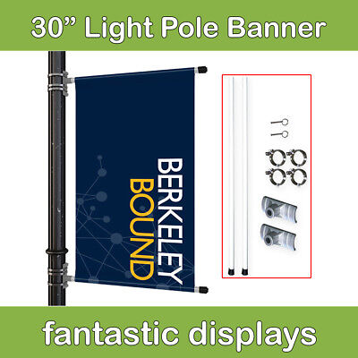 """30"""" Street Pole Banner Mounting Kit for Hemmed Banners with Pole Pockets"""