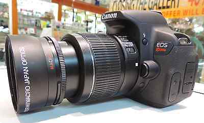 58Mm Xit Pro Series Wide Angle Macro For Canon Eos Rebel Dslr T3 T3I T4 T5 T6