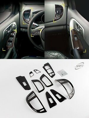SAFE Carbon Interior Molding Kit 10pcs For KIA Forte Cerato 4D 5D 2009 2013