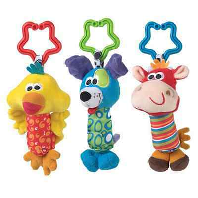 Lovely Kids Baby Soft Animal Handbells Rattle Baby Car Pram Stroller Bell Toy