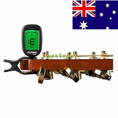 Clip-On Guitar Bass Violin Ukulele Violin Banjo Chromatic Tuner T30W LCD S##