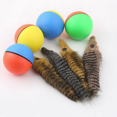 Dog Cat Weasel Motorized Funny Rolling Ball Pet Appears Moving Alive Toy S#