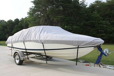 New Vortex Combo Pack Heavy Duty Grey 20 21 22' Boat Cover + Support System