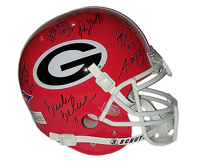 Tarkenton Stafford Murray Georgia Bulldogs 10 QBs Autographed Authentic Helmet