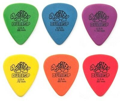 Dunlop TORTEX Standard Guitar Picks Plectrums 12 Pack with a choice of 6 Gauges