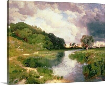 Solid-Faced Canvas Print Wall Art entitled Approaching Storm, Amagansett, 1884