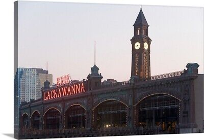 Premium Thick-Wrap Canvas Wall Art entitled USA, New Jersey, Hoboken, old train