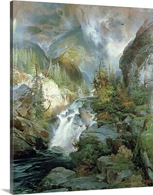 Solid-Faced Canvas Print Wall Art entitled Children of the Mountain, 1866