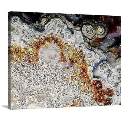 Premium Thick-Wrap Canvas Wall Art entitled Polished 'crazy lace' agate