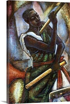 Premium Thick-Wrap Canvas Wall Art entitled African Drummer