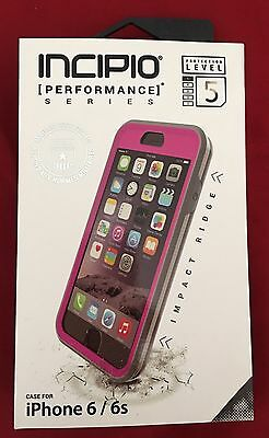 Authentic Incipio Performance Series Ultra Rugged Level 5- iPhone 6/6s Pink/Gray