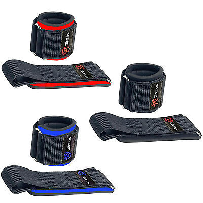 Billzan Weight Lifting Wrist Support Wraps Gym Straps Bandages Hook & Loop Lock