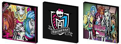 Monster High - Canvas Art Blocks/ Wall Art Plaques/pictures