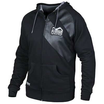 "Phantom Athletics Zip Hoodie ""Elite"" Black, Kampfsport MMA Muay Thai BJJ Jacke"