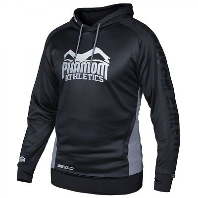 "Phantom Athletics Hoodie ""Stealth"" Black, Kampfsport MMA Muay Thai BJJ Pullover"