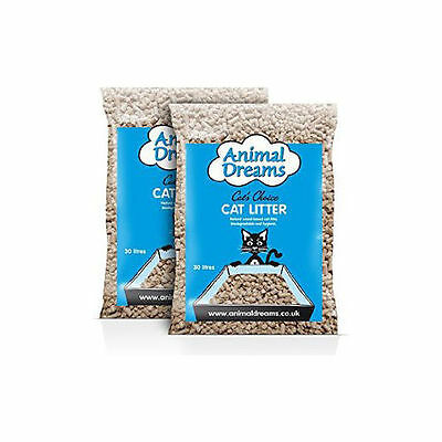 Animal Dreams Wood Based Natural Cat Litter - 2 x 30litre Bags