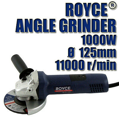 "BN ROYCE 1000w ANGLE GRINDER 100mm - 125mm 4""-5"" CUTTING POWER TOOL"