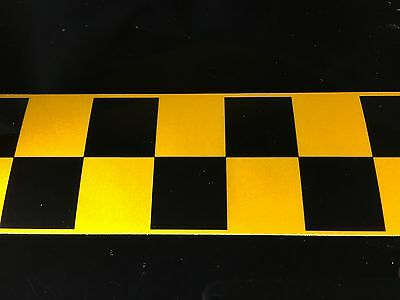 High Quality Yellow/black Chequered Reflective Tape 50Mm Width 7 Lengths