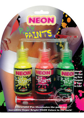 Neon Play Glowing Body Paints with Ultraviolet Pen Romantic Gift