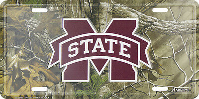 "Mississippi State Bulldogs Car Truck Tag Camo License Plate 12""X6"" Metal Sign"