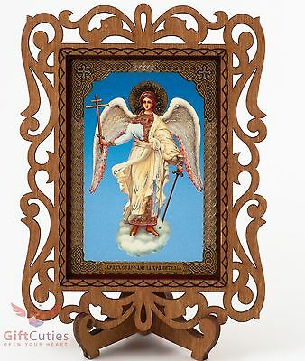 Guardian angel Ангел Хранитель Russian Christian Orthodox Church Icon Wood