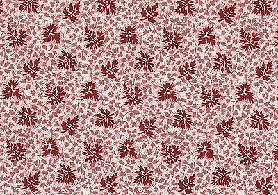 Waverly Fabric Treasure Off White Red Tan Leaves   Cotton Drapery Upholstery