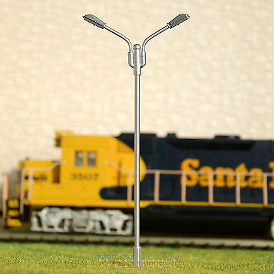 HO scale led street lights Model train wall lamps lamp posts #R45WH 5 x OO