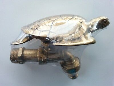 Brass Garden Tap Turtle Spigot Faucet Vintage Water Home Decor Living Outdoor