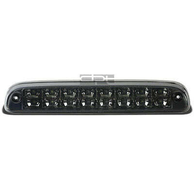 Fit 99-16 Ford Super Duty 2-Row LED Rear Third 3rd Tail Brake Light Lamp Smoked