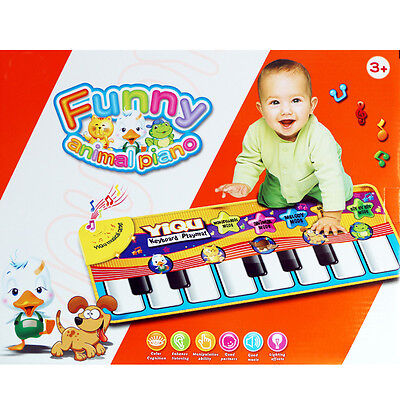 Fun Dance Musical Touch Piano Mat Giant Toy Keys Play Step On Keyboard Carpet