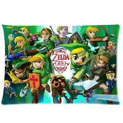 Brand New The Legend of Zelda Rectangle Pillow Case 20x30 Inch(One Side)