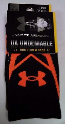 Under Armour Youth Boys/Girls Heat Gear Crew Sock 1 pair Size Youth Large